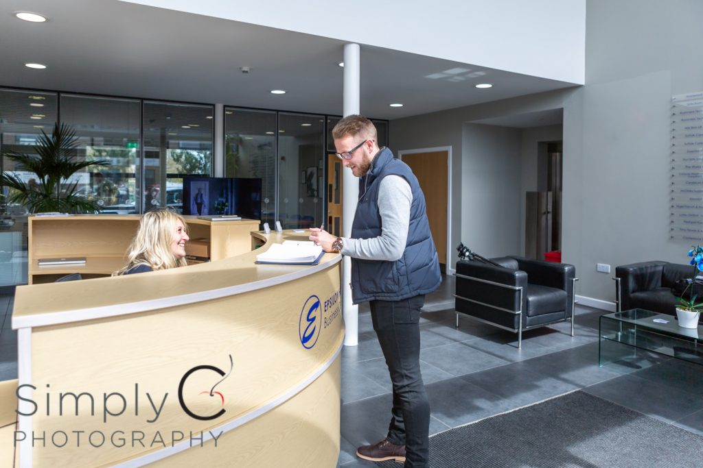 Candid onsite photography, commercial offices