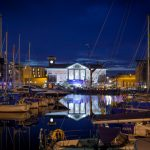 Nighttime photoshoot of Ipswich Waterfront at night