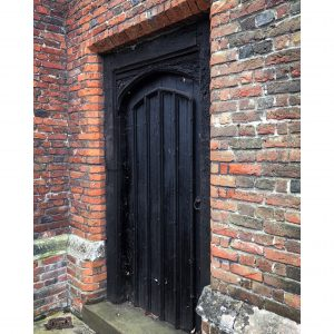 Colour image of a black doorway