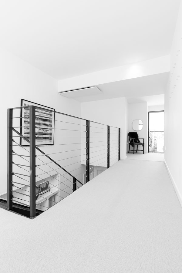 Mono interior photography of a residential property