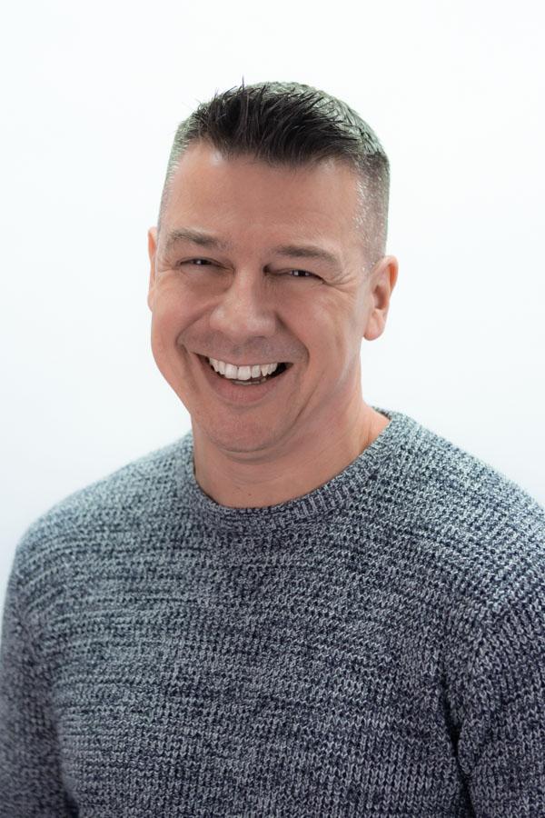 White Background Headshot and Portrait of BBC Radio Suffolk Presenter