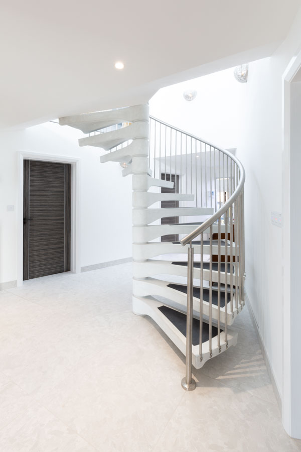Product Photograph of a spiral staircase