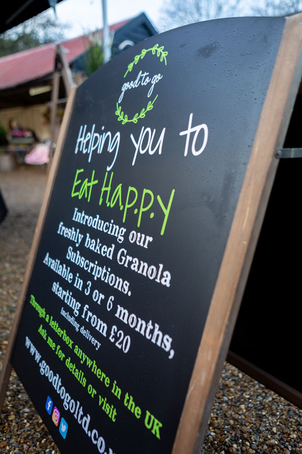 Sign used at the Suffolk Food Markets