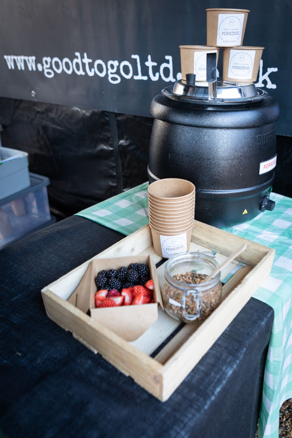Porridge at a Suffolk Outdoor Market