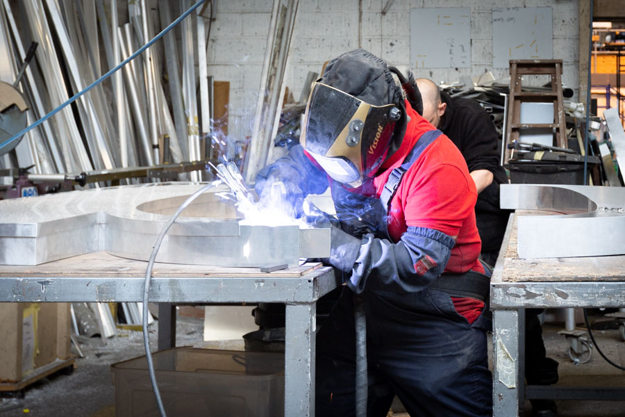 Commercial Branding Photography of a welder