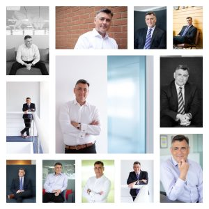 Collection of headshots for personal branding