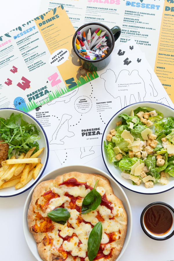 Branding Food Photography with Salad and Pizza