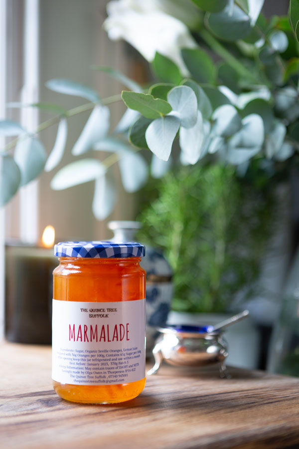 Marmalde for food photoshoot showing rule of thirds